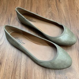 Lucky Brand Letah Dusty Gold Bronze Brown Flats